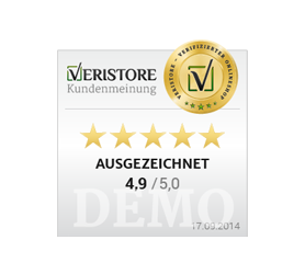 Veristore-Badge ohne Kommentar