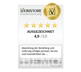 Veristore-Badge vertikal